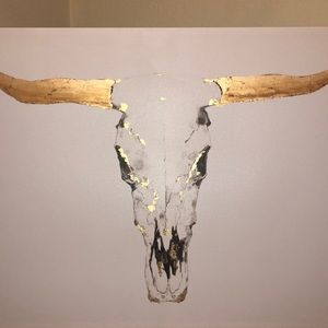 48x36 COW SKULL